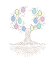 candy colors genealogical branchy tree vector image vector image