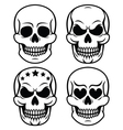 Halloween human skull design Day of the Dead vector image vector image