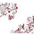 abstract background with birds vector image vector image
