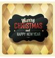 Christmas retro design card vector image