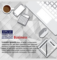 flat backgrounds set for business and financial vector image