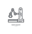 industrial robot icon vector image