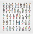 large collection of different people set of poses vector image