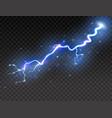 lightning on transparent background realistic vector image