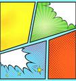 Pop-art comic page sheet template vector image