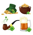 set of st patrick s day symbols vector image
