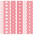 White lace ribbons fabric seamless pattern vector image