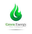 Flame Bright Green energy logo template vector image