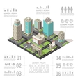 Office Buildings Isometric Infographics vector image