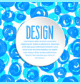 design template on ink hand drawn pattern vector image vector image