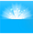 Light burst blue background vector image