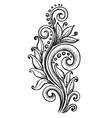 curls in a graphic style points and lines vector image