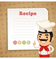 Recipe Card with Chef vector image
