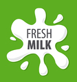 logo splashes of natural milk vector image