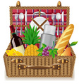 picnic basket vector image