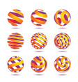 sphere design elements vector image
