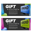 Gift Voucher Or Card vector image