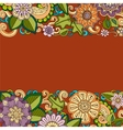 Floral card Colored hand drawn pattern with vector image