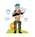 Airborne troops Flat style colorful vector image