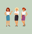business lady set vector image