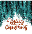 christmas fluffy tree template vector image