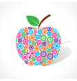 Group of gear make a apple vector image