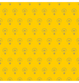 Hand drawn light bulbs on sunny yellow background vector image