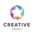 hands logo abstract logo design concept vector image