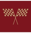 The checkered flag icon Finish and start winner vector image