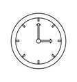 wall clock isolated vector image