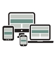Web Design on Devices vector image