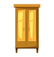 Wardrobe for clothes icon cartoon style vector image