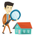 man looking for house vector image