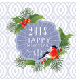 2018 happy new year greeting card vector image
