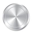 Metallic button template Round sticker Icon vector image