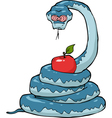 biblical serpent with apple vector image vector image