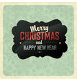 Christmas vintage poster vector image vector image