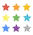 Collection of multicolored stas vector image
