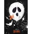 Halloween poster balloon vector image vector image