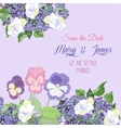 Background with white peonies and lilac vector image