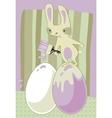 painter bunny vector image