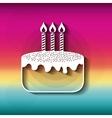 Blurred striped background Happy Birthday design vector image