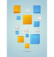 Abstract mobile background with geometric elements vector image