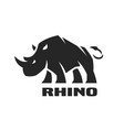 angry rhino monochrome logo vector image