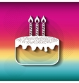 Blurred striped background Happy Birthday design vector image