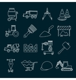 Construction icons set outline vector image