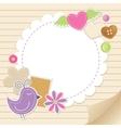 cute vintage greeting card vector image