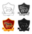 equestrian blaze icon in cartoon style isolated on vector image