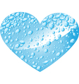 Heart from water drops vector image