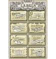 Set of Vintage Clothing Labels vector image